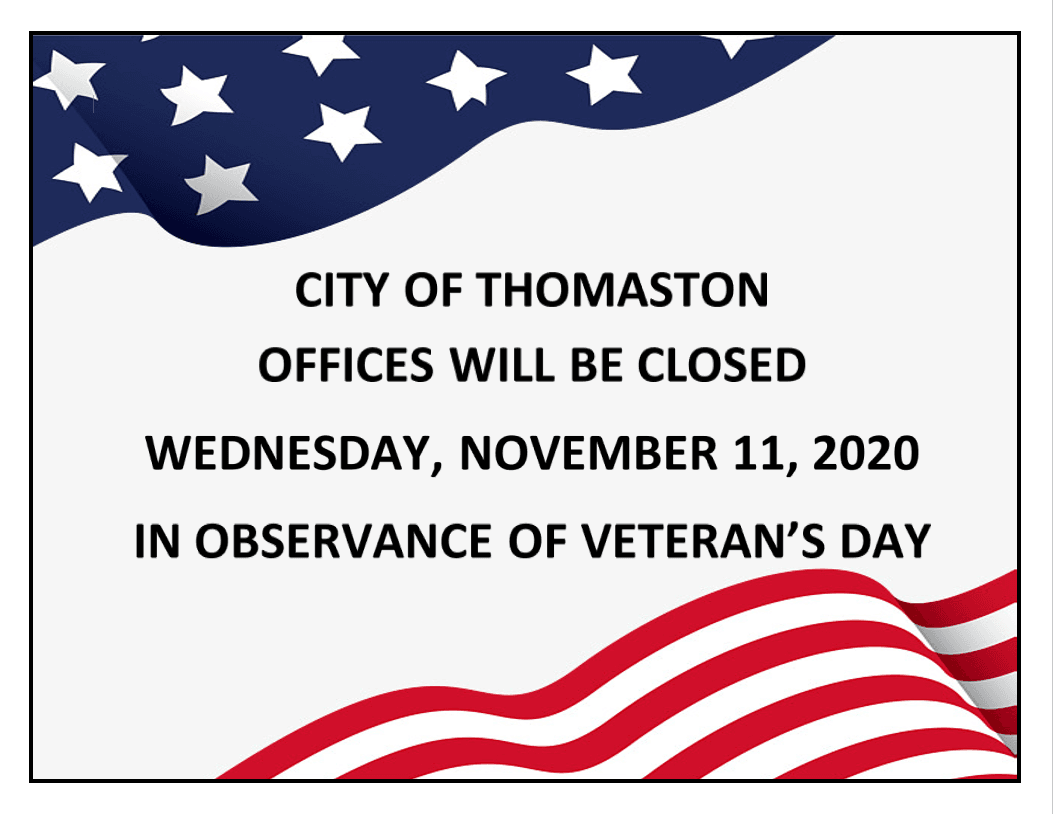 Veterans Day Notice