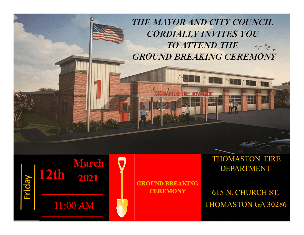Ground Breaking Ceremony New Fire Station